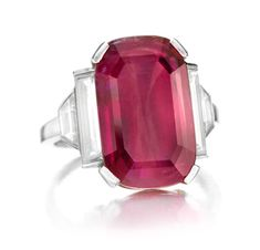 Van Cleef & Arpels An Art Deco Ruby and Diamond Ring