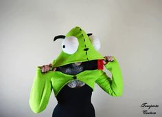 Invader Zim Gir Dog Suit Hooded Shrug Hoodie by TempestaCouture