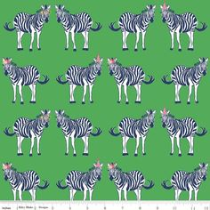 MOVING SALE - Safari Party Main Green with Gold Sparkle - blue, white, and green zebra print - Safari Party Fabric from Riley Blake Green Zebra, Michael Miller Fabric, Safari Party, Riley Blake, Green Print, Cotton Quilts, Cotton Fabric, Waterproof Fabric, Zebras