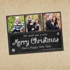 Custom Christmas Card  5x7 printable download by LilMonkeysDesigns, $13.00