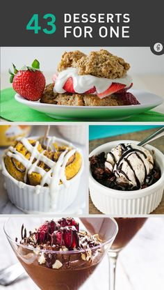 Cooking for One: 43 Ridiculously Delicious Single-Serving Dessert Recipes dessert recipes chocolate Brownie Desserts, Mini Desserts, Oreo Dessert, Coconut Dessert, Single Serve Desserts, Single Serving Recipes, Dessert For Two, Healthy Desserts, Just Desserts