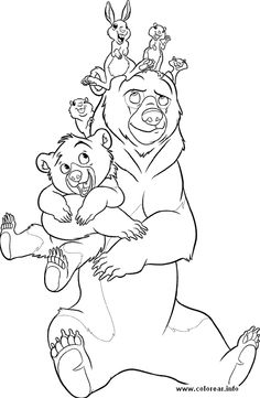 free coloring pages free printable book page brother bear - Brother Bear Moose Coloring Pages