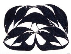 Raven Shapes II by Kenojuak Ashevak