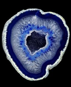 Geode, blue agate rock. Super natural, right?!