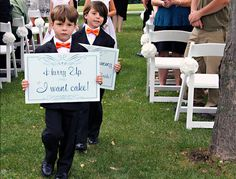 Truthful & funny wedding signs from Offbeat Bride