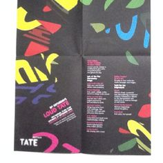 Tate Modern fold out flyer.