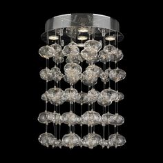 Worldwide W33153C16 Effervescence Large Contemporary Chrome Overhead Lighting - 24 Inches Tall - WOR-W33153C16