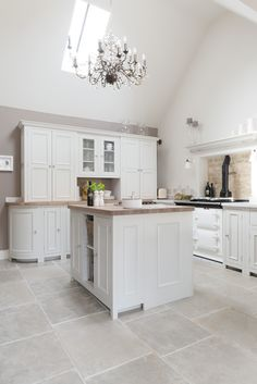 Stone Floors with Silver Birch Chichester Cabinets Neptune kitchen in Cotswolds Neptune By Sims Hilditch click the image or link for more info. Stone Kitchen, Kitchen Tiles, Kitchen Flooring, Open Plan Kitchen, Country Kitchen, New Kitchen, Rustic Kitchen, Kitchen Interior, Kitchen Decor