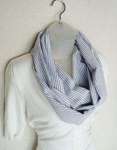 seersucker infinity scarf. Anyone can make this! #seersucker #mbgdesign