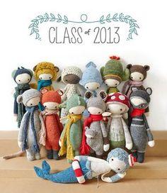 lalylala crochet patterns in 2013 | www.lalylala.com #crochetdesigner #amigurumi cute and cool plushie dolls