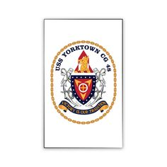 USS Yorktown Magnet now available! Show your Navy Service pride on your refrigerator, car, file cabinet and other metallic surfaces! This custom magnet is 3 inches tall and 2 inches wide. Designed, Printed & Sublimated in the USA!