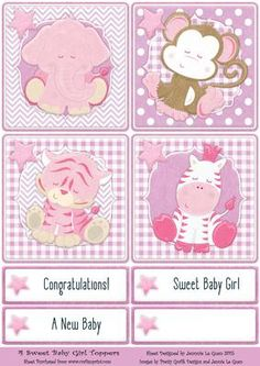 4 Sweet Baby Girl Toppers on Craftsuprint - View Now!