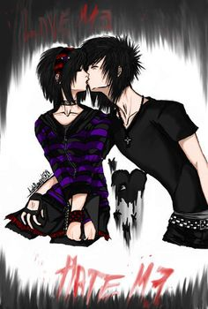 DeviantArt is the world's largest online social community for artists and art enthusiasts, allowing people to connect through the creation and sharing of art. Cute Emo Couples, Cute Emo Boys, Emo Guys, Anime Couples, Emo Anime Girl, Anime Love, Anime Guys, Gothic Anime, Gothic Art