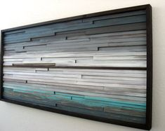 Abstract Wood Wall Art of Ocean Landscape by ModernRusticArt