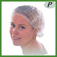 Gorro de plástico para la ducha transparente para evitar que el agua o cualquier otro líquido toque el pelo. Más información: http://www.tplanas.com/epis/vestuario-desechable/634-gorro-de-plastico-para-ducha.html