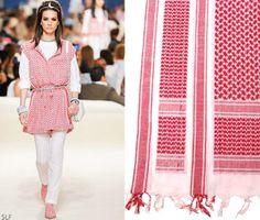 Khaliji Arabic ethnic masculine fabric: Shemagh #Chanel Cruise 2015 #chanelcruisedubai