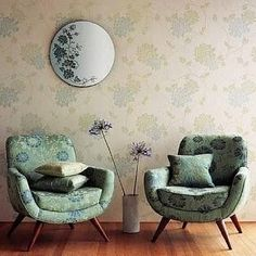 Laura Ashley chairs via Cozy Biscuit blog. #chairs #furniture