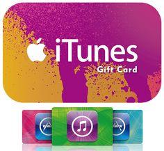 Excelentes tarjetas de regalo de iTunes son el obsequio perfecto para cualquiera que disfrute de un entretenimiento continuo. Cada carta posee un código de iTunes Store pueden canjear por música, películas, programas de televisión, audiolibros, juegos y mucho más. Los destinatarios pueden sincronizar con el iPod, iPad o iPhone, grabar música en CD, y ver o escuchar en su ordenador Mac o PC. Capacidad de 50, 25 y 15 $