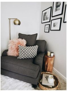 Living Pequeños, Living Room On A Budget, Cozy Living Rooms, Living Room Furniture, Living Room Decor, Bedroom Decor, Small Living, Bedroom Nook, Bedroom Chair