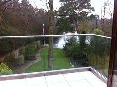 Frameless glass balcony balustrade