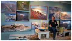John Austi - art gallery..ABOUT THE ARTIST  After a diversity of occupations that included creative lighting designer and pub landlord, changing circumstances gave John the opportunity to realise a lifelong ambition to become an artist specialising in the depiction of the steam railway. A move to a cold 300 year old house on the banks of the River Severn at Bridgnorth, close to the Severn Valley Railway, provided a perfect inspirational environment. More recently, John has moved to Dawlish…
