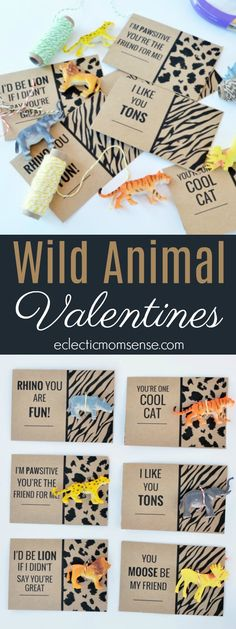 Who's wild about Valentines Day? Checkout these printable wild animal #Valentine cards!