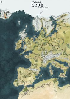 Anyway, explanation: as part of my effort to build and promote my Patreon I've come up with the idea of Free Map Friday. Free Map Friday - Erob after the Great Frost Fantasy Map Making, Fantasy World Map, Dungeons And Dragons Homebrew, D&d Dungeons And Dragons, Imaginary Maps, Rpg Map, Alternate Worlds, Free Maps, Fantasy Setting