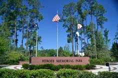Heroes Memorial Park. Those in the military and law enforcement who have served and sacrificed for our country now have a place to be honored. Each Memorial Day, Veteran's Day and Fourth of July memorial services are held in this park to recognize those who have given their lives in the line of duty. Branches of the military are honored with engraved granite monuments of these names, along with a Purple Heart Memorial.