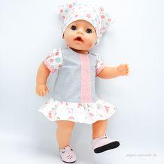 Freebook für ein Sommerkleid von Wollyonline für eine Babypuppe 43cm