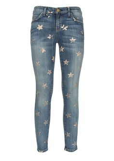 d3c42a9c108 Current-Elliott Jeans :: Current Elliott gold-tone stars printed denim  Stiletto jeans
