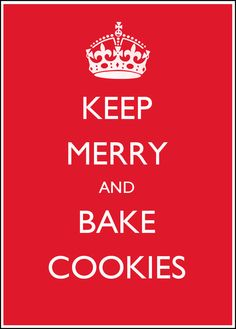 This describes the Christmas baking perfectly.