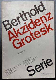 Akzidenz Grotesk, 1964