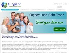 Allegiant Finance Services Ltd specialise in no win no fee payday loan claims against UK payday loan lenders. No Win No Fee.