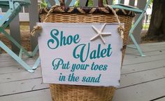 Hey, I found this really awesome Etsy listing at https://www.etsy.com/listing/294679403/beach-wedding-sign-shoes-optional-teal