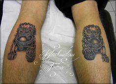 Foo dog tattoo