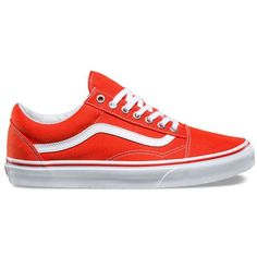 Vans Canvas Old Skool ($55) ❤ liked on Polyvore featuring men's fashion, men's shoes, men's sneakers, orange, mens lace up shoes, mens orange sneakers, mens canvas shoes, mens canvas sneakers and mens orange shoes