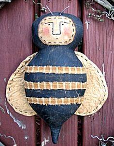 Primitive Pattern Bumble Bee A Very Primitive Bumble Bee door greeter/wall decor #NaivePrimitive