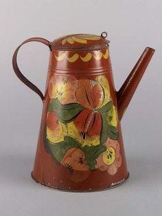 Coffeepot, attributed to Aaron Butler tin shop, Greenville, New York, 1824-55. Laszlo Bodo