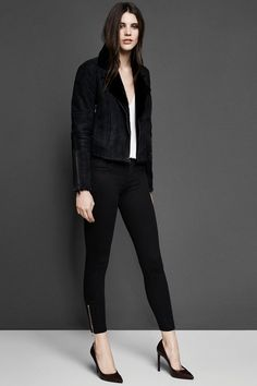 20% off full-priced items. Use code FRIEND914. Lana Leather Jacket in Black. #JBRAND