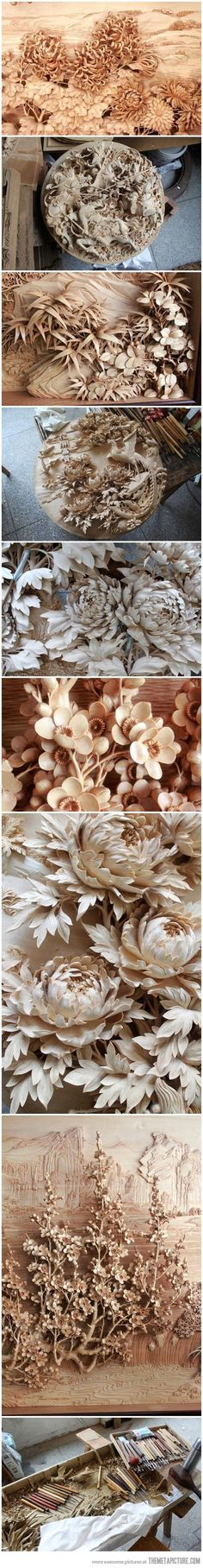 Amazing Chinese wood craft…