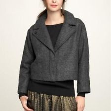 GAP CROPPED GRAY COCOON JACKET