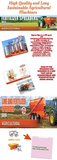 Pins about agriculture machinery and equipments such as sand spreaders, Milling Mixing, spreaders fertilizer and so on.