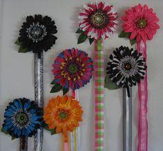 RAINBOW  Multicolor Large Gerber Daisy Flower Hair accessories organization