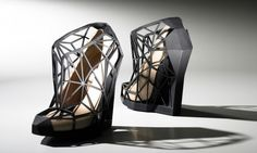 3D-Printed Andreia Chaves 'Invisible' Optical Effect Shoes
