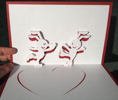 Ice skating rabbits pop-up