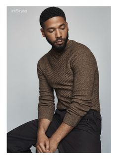 Jussie Smollett photographed by Joachim Mueller-Ruchholtz with styling by Grant Woolhead for InStyle, September 2015.