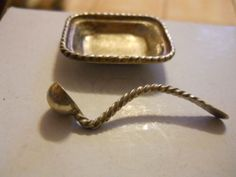 STERLING DOLL HOUSE MINIATURE SERVING LADLE MARKED