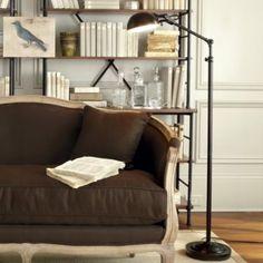 Julian Apothecary Floor Lamp - Ballard Designs: for living room? Interior Exterior, Interior Design, Pharmacy Floor Lamp, Adjustable Floor Lamp, Buffet Lamps, Ballard Designs, My Living Room, Living Spaces, Flooring