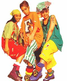 I love the layering of slouch socks look as demonstrated by TLC