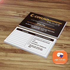 Cartão de Visita - Despachante Coelho - Impresso em papel couché 250gr - Verniz Integral - Agradecemos ao amigo Deives Coelho pela parceria.